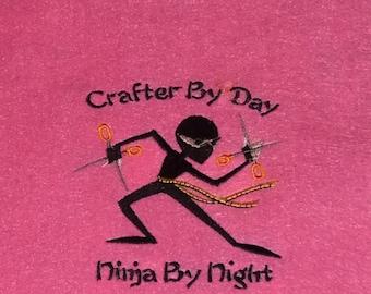 Craft Ninja Embroidered Wall Art (9x12)