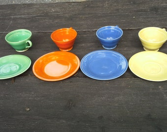 Vintage Edwin Knowles Cups and Saucers Set - 1950's, Rare