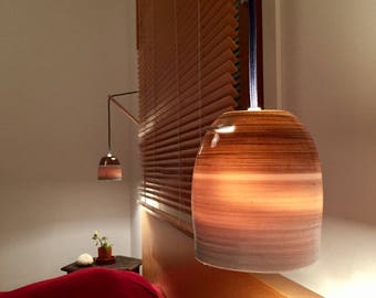 Bedside lights on square wooden - porcelain ornaments. Wall Sconce.