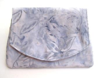 Icy Blue Batik Wallet