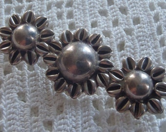 Vintage Brooch Sterling Flowers 925 Mexico Silver