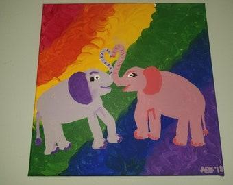 RESERVED** Lesbian Elephant Love