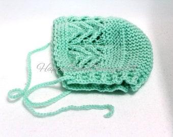 Knit newborn hat,newborn bonnet,Knit baby bonnet,Newborn Photography props,New born hat