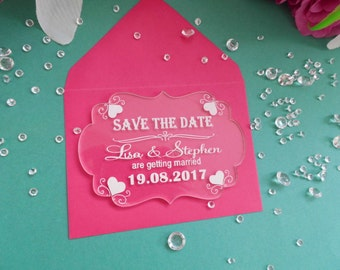 Save The Date/Vintage wedding/Modern save the date/Wedding save the date/ Wedding invitation/Alternative Save the Date/Acrylic Invitation