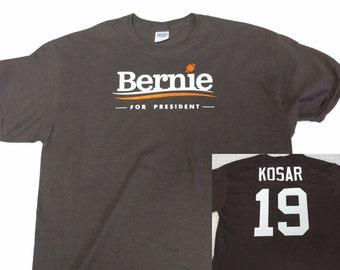 Bernie For President - Bernie Kosar Jersey T Shirt Name Number On Back Cleveland Browns - Bernie Sanders
