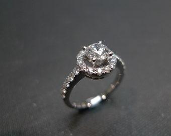Wedding Diamond Band Ring in 14K White Gold