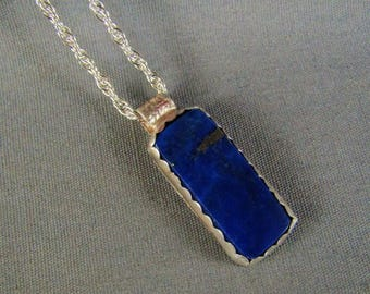 Lapis Sterling Silver Hand Crafted Necklace