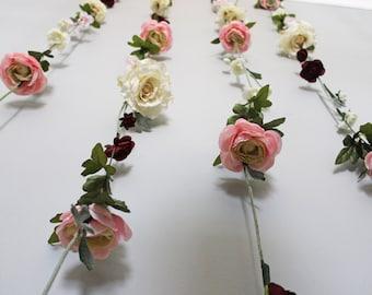 Hanging flowers etsy hanging flower backdrop wedding flower garland wedding ceremony backdrop silk flower garland mightylinksfo Images