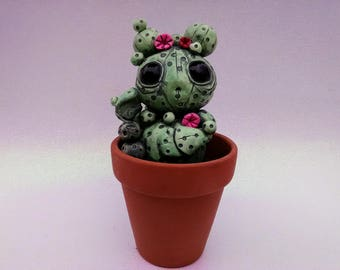 Cute Cactus Creature Sculpture