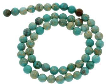 10 Pieces 6mm Impression Jasper Beads