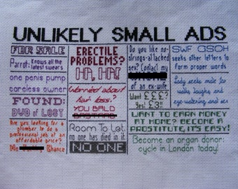 Unlikely Small Ads/Classifieds - Mock the Week Pattern
