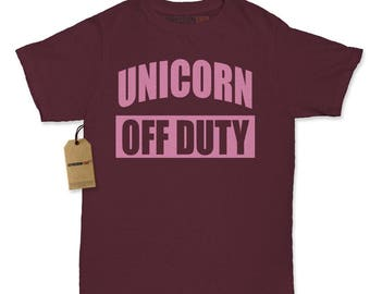 Unicorn Off Duty Womens T-shirt