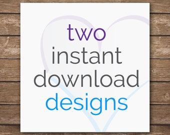 Design Discount Package - 2 Coordinating Instant Download Designs - Nursery Décor - DIGITAL FILES