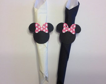 Minnie Mouse Napkin Rings Set of 12 You choose the bow
