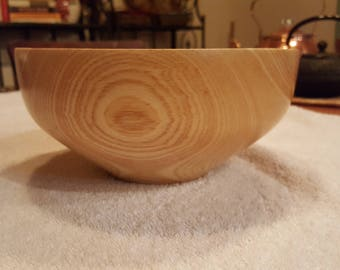 Turned wooden Sugar Maple bowl.