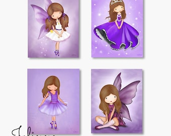 Purple room decor, art for girls room,purple wall art, wall art set,Childrens wall art,kids room decor,purple room art for girls,nursery art