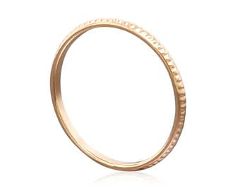 Solid Gold Ring Gift for Her- Thin Gold Ring - Promise Ring for Her - Stacking Ring - Minimalist Ring - Dainty Ring - Delicate Ring