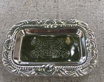 small silver plated tray