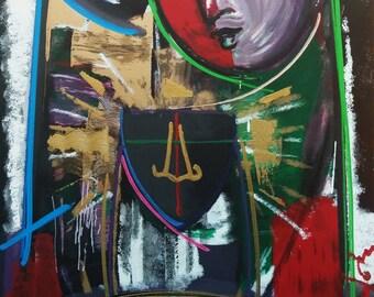 "Orlando Agudelo-Botero ""La Familia IV"" - Signed Embellished Mixed Media - Large - COA - See Live at GallArt - Buy/Sell/Trade"