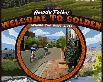 Golden, Colorado Town Scenes (Art Prints available in multiple sizes)