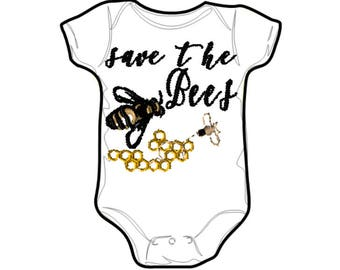 Embroidery File 5x7: Save the Bees