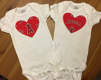 Anaheim Angels Heart Onesie