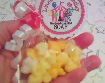 Baby Shower Favors - She's About To POP - POPCORN Soap -  30 favor bags