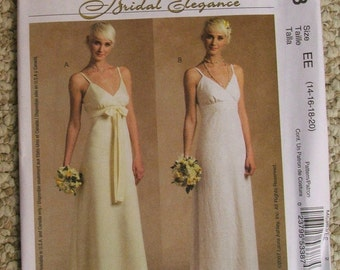 McCalls M5383 Laura Ashley Bridal Elegance High Waisted Gown Red Carpet Evening Size 14-16-18-20