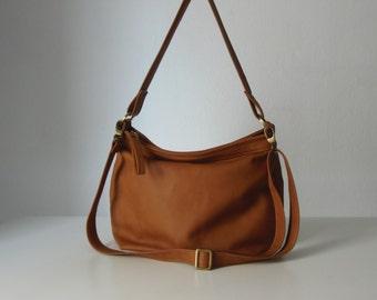 Tan leather hobo bag - Leather hobo purse - Soft leather  bag - Slouchy bag - MEDIUM HELEN bag