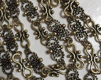 fancy 9x19.5//8.5x17.5 mm bronze chain dangles