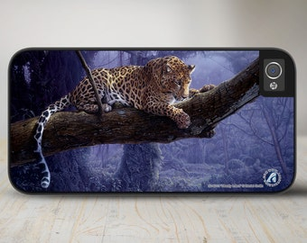 """Leopard iPhone Case, Leopard iPhone   Case, Leopard Protective Phone Case """"Deadly Intent"""" 50-8215"""