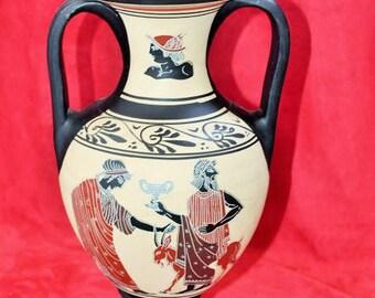 Greek amphora signed vase appears black mythology