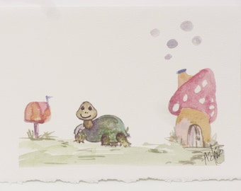 Artist Designed Cards, Whimsical Notes,Colorful Greeting Cards,Turtle Lover Cards,Mom Gift- Stationery,Thank You -Watercolors Greeting Cards