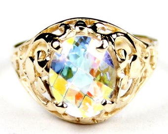 Mercury Mist Topaz, 14KY Gold Ring, R004