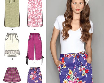 Simplicity Sewing Pattern 2258 Misses' Easy to Sew Skirts & Shorts