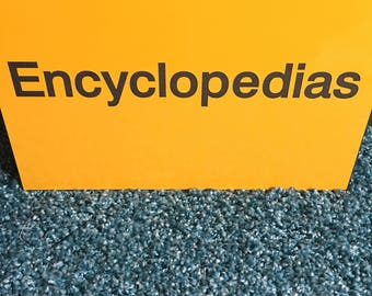 Encyclopedias vintage sign