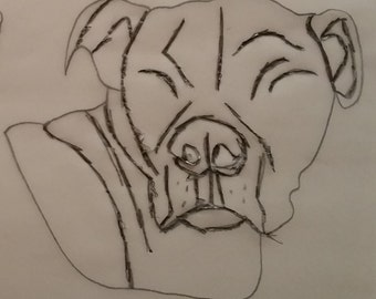Personalised Staffordshire Bull Terrier Pattern
