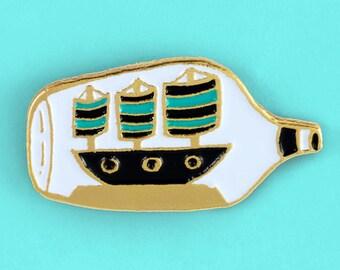 Ship In A Bottle Pin
