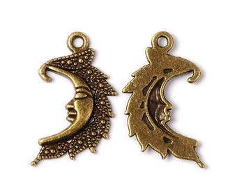 Set of 2 bronze charms - dimensions 25mm (BR011)