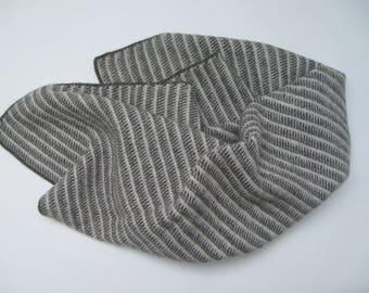Contemporary Shetland wool lap blanket / baby blanket / throw in natural undyed colours