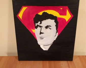 Superman - hand painted