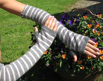 Cashmere Gloves - Fingerless Gloves - Arm warmers