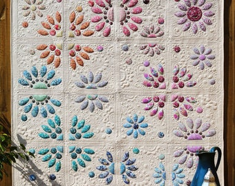 Divided Blooms Quilt Pattern