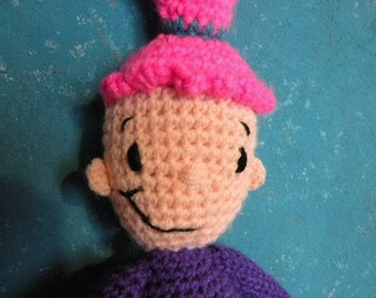 PDF - INSTANT DOWNLOAD - Pinky Dinky Doo - 16.8 inches - amigurumi doll crochet pattern in English language
