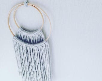 PALE GREY  Wool Wall hanging
