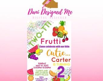Tutti Frutti Birthday Party Invitation