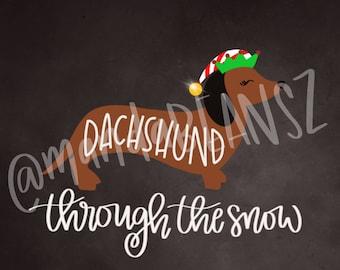 Dachshund Through The Snow Digital Download