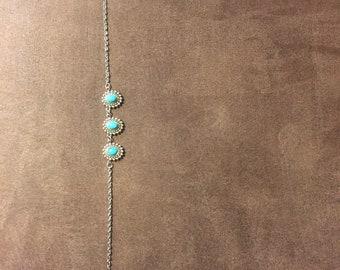 Three Bead Turquoise Necklace