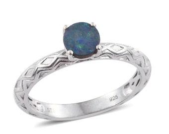 Australian Boulder Opal Ring - Size 9
