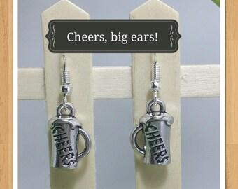 BEER PINT CHEERS earrings food earrings drink earrings